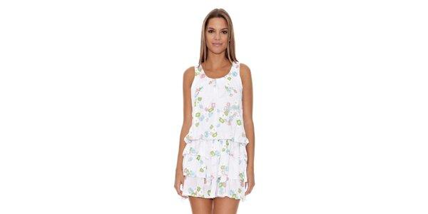 Dámske biele šaty s volánmi Assuili