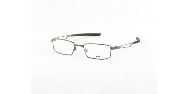 Svetlo šedé kovové dioptrické obrúčky Oakley