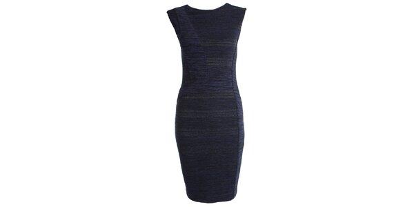 Dámske tmavo modré púzdrové šaty JDC London