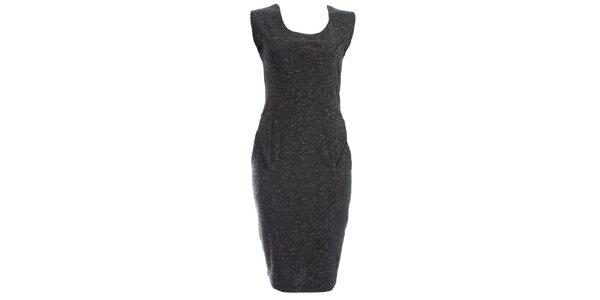 Dámske šedočierne púzdrové šaty JDC London