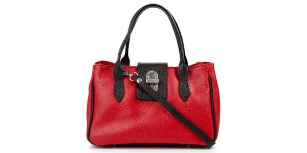 Dámska malá červeno-čierna kabelka Giulia