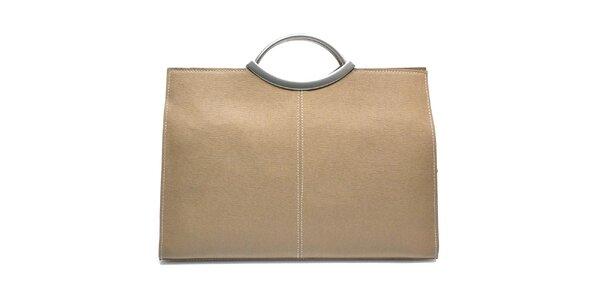 Dámska kožená kabelka v béžovej farbe Giulia