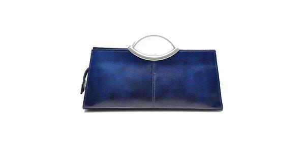 Dámska modrá kabelka s kovovými ušami Giulia