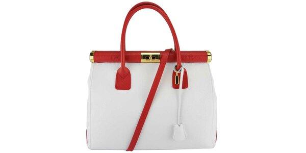 Dámska bielo-červená kabelka Giulia