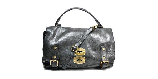Dámska čierna kabelka so zámčekom Giulia