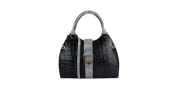Dámska čierno-šedá kabelka Giulia