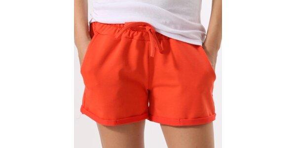 Dámske oranžové šortky Santa Barbara