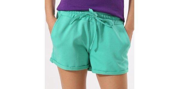 Dámske zelené šortky Santa Barbara