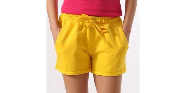 Dámske žlté šortky Santa Barbara