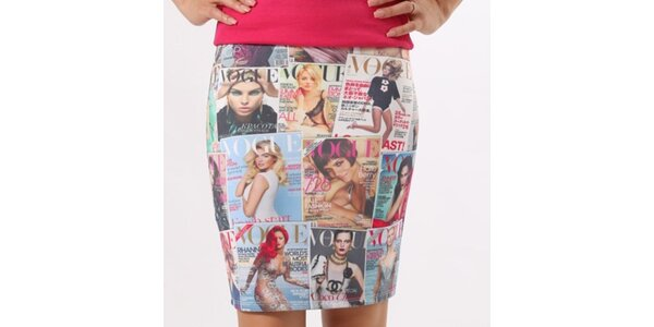 Dámska sukňa s Vogue potlačou Santa Barbara