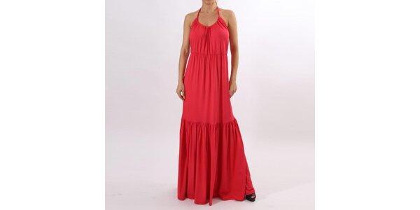 bc0fa96564 Dámske dlhé korálovo červené šaty Santa Barbara
