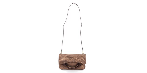 Dámska medená lesklá kabelka Puntotres