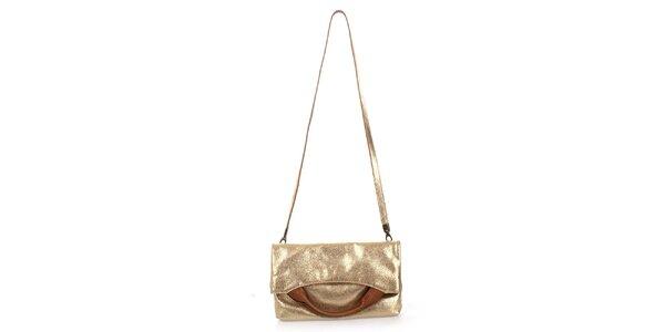 Dámska zlatá kabelka Puntotres