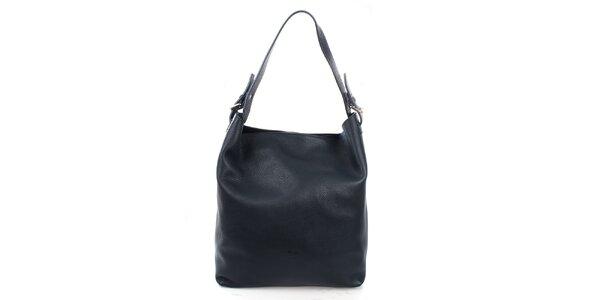Dámska tmavo modrá kabelka s jedným uchom Puntotres