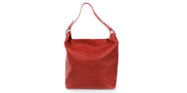 Dámska červená kabelka s jedným uchom Puntotres