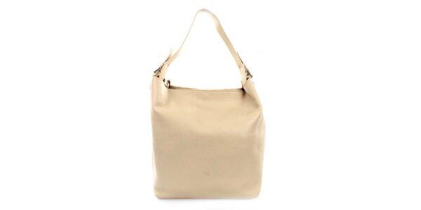 Dámska kožená kabelka v béžovej farbe Puntotres