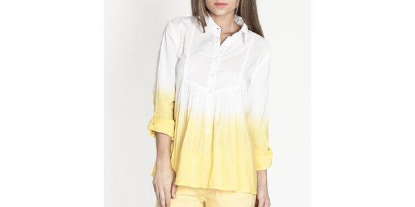 Dámska bielo-žltá košeľa Tantra