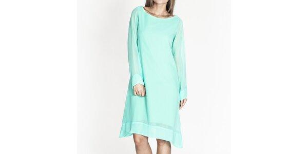 Dámske tyrkysové voľné šaty Tantra