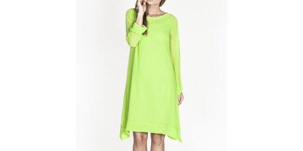 Dámske zelené voľné šaty Tantra