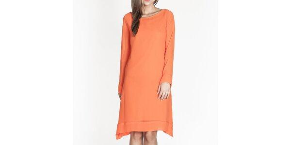 Dámske oranžové voľné šaty Tantra