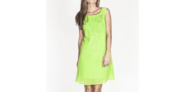 Dámske zelené šaty bez rukávov Tantra