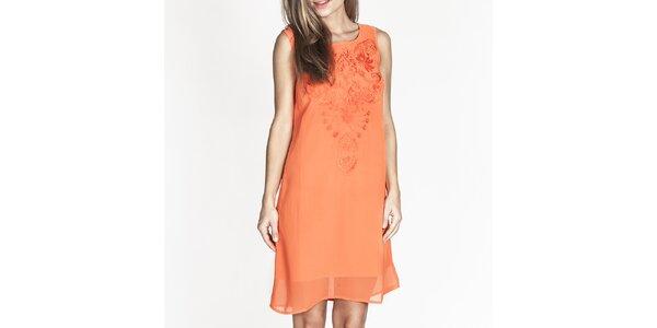 Dámske oranžové šaty bez rukávov Tantra