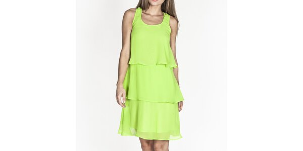 Dámske zelené šaty s volánmi Tantra