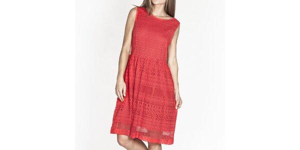 Dámske červené šaty so vzorom Tantra