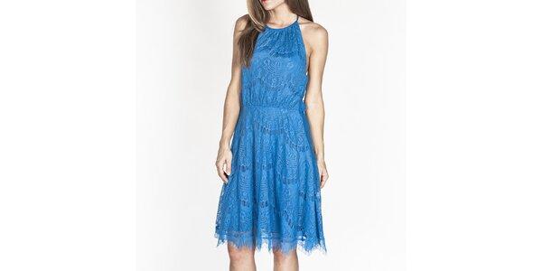 Dámske modré čipkové šaty Tantra