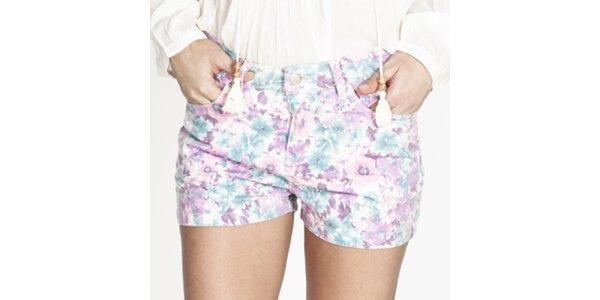Dámske farebné kvetované krátke šortky Tantra