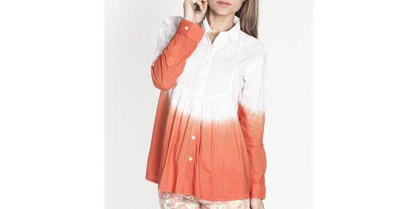 Dámska bielo-oranžová košeľa Tantra