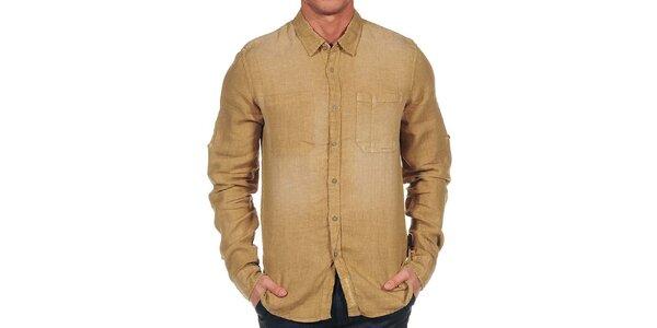 Pánska béžová košeľa Calvin Klein