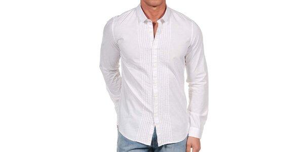 Pánska biela ozdobná košeľa Calvin Klein