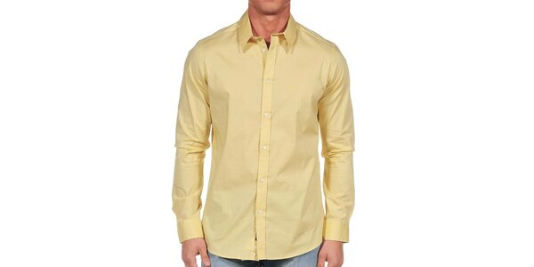Pánska svetlo žltá košeľa Calvin Klein