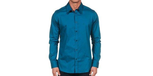 Pánska tmavo modrá košeľa Calvin Klein
