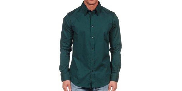 Pánska tmavo zelená košeľa Calvin Klein