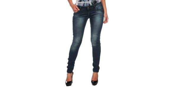 Dámske modré džínsy s šisovaním Calvin Klein