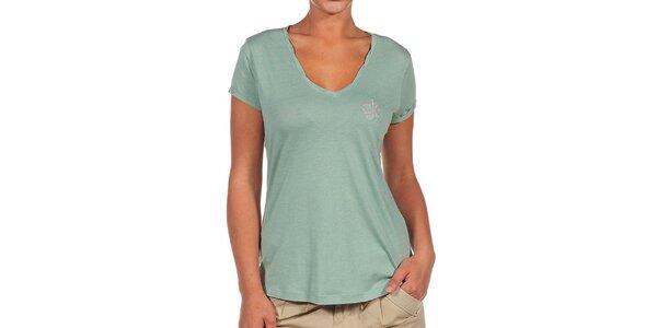 Dámske zelené tričko s logom Calvin Klein