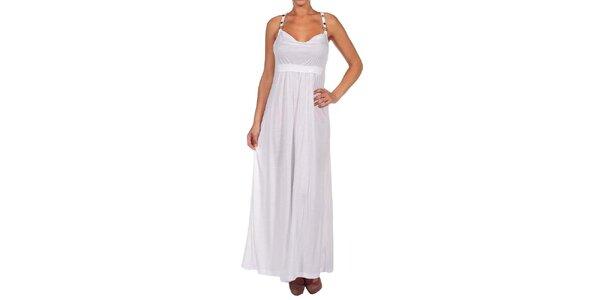 Dámske biele dlhé šaty Calvin Klein