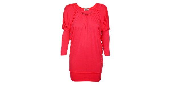 Dámske korálovo ružové šaty Love Red