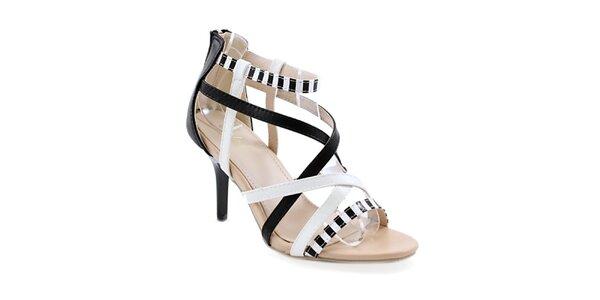 Dámske čiernobiele topánočky Balada