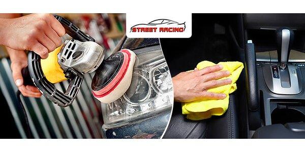 Vytepovanie auta i vyčistenie svetlometov