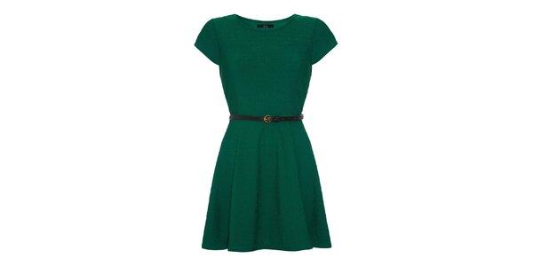 Dámske zelené šaty s krátkym rukávom Iska