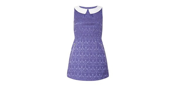 Dámske šaty s fialovým vzorom Iska