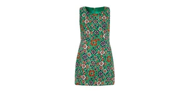 Dámske zelené vzorované šaty Iska