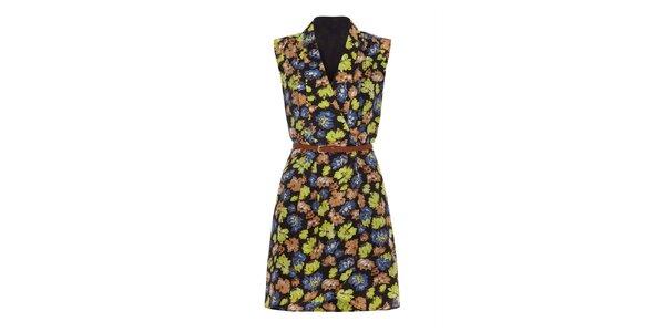 Dámske zavinovacie šaty s kvetinami Iska