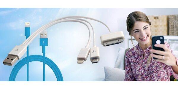 USB nabíjacie káble na iPhony, iPady a Android smartfóny