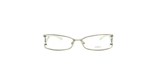 Dámske svetlo zelené okuliarové rámy Furla