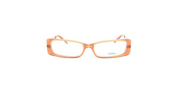 Dámske korálovo oranžové okuliarové rámy Furla
