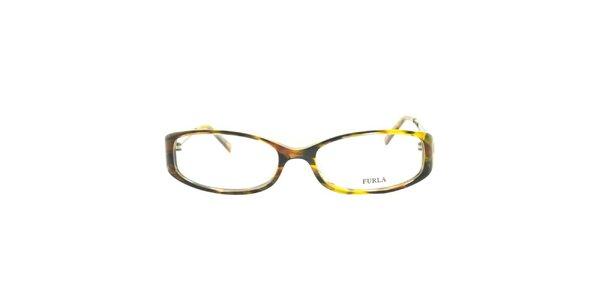 Dámske vzorované okuliarové rámy Furla